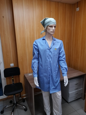 Антистатический мужской халат EZ-M130–К